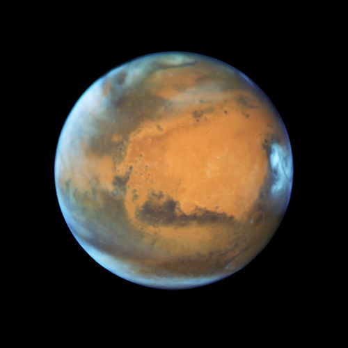 The Hubble telescope takes a Mars portrait near close approach.