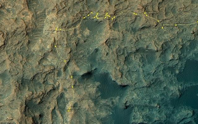 Curiosity Rover's Location for Sol 1378