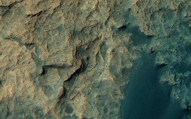 Curiosity Rover's Location for Sol 1384