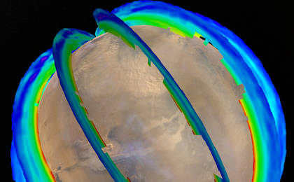 read the article 'Mars Atmospheric Temperature and Dust Storm Tracking'