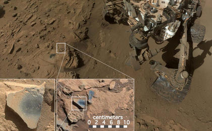 read the article 'NASA's Curiosity at Site of Clues About Ancient Oxygen'