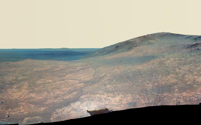Panorama of 'Marathon Valley' on Mars (Enhanced Color)