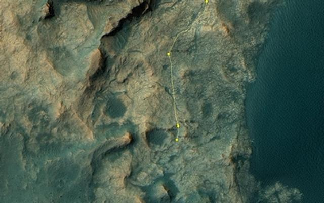 Curiosity Rover's Location for Sol 1387