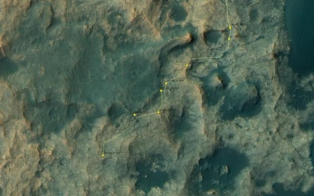 Curiosity Rover's Location for Sol 1410