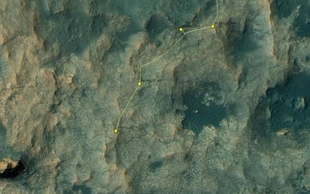 Curiosity Rover's Location for Sol 1412