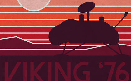 read the article 'Viking 40 Year Anniversary Artwork: Lander Silhouette'