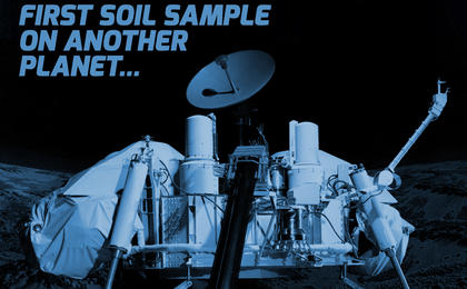 read the article 'Viking 40 Year Anniversary Artwork: First Soil Sample on Another Planet'