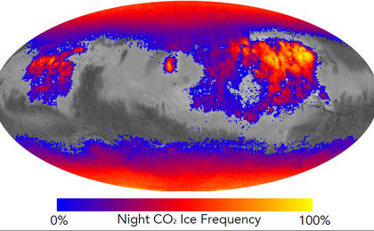 read the article 'Where on Mars Does Carbon Dioxide Frost Form Often?'