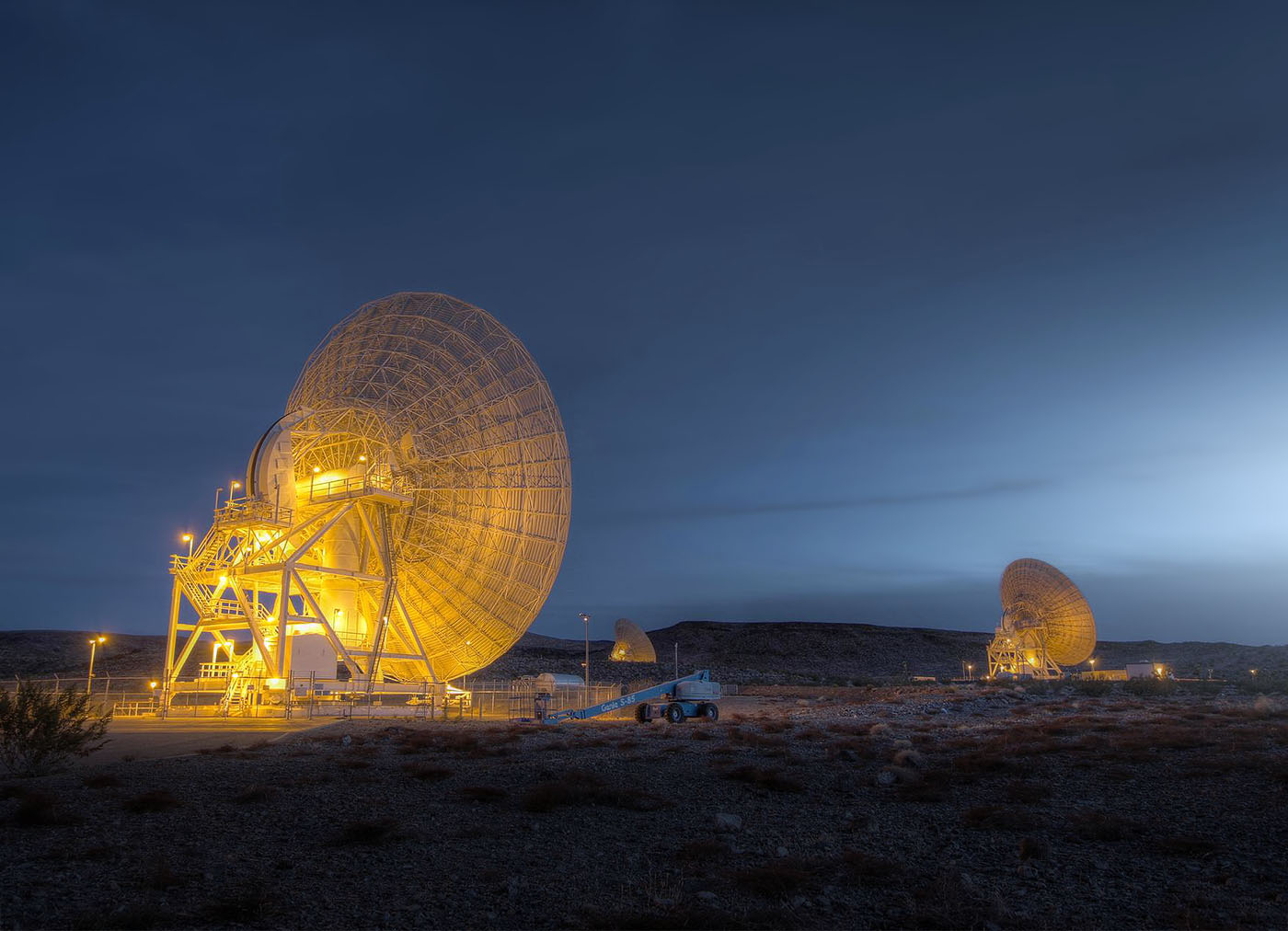 "Deep Space Network antennas at Goldstone's ""Apollo Valley"""