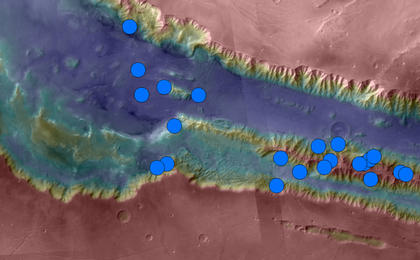 read the article 'Sites with Seasonal Streaks on Slopes in Mars Canyons'