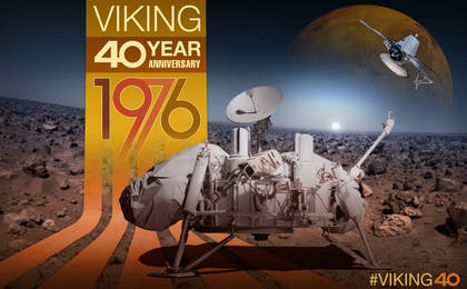 read the article 'Viking 40 Year Anniversary Artwork: Viking 1 and 2 Orbiter and Lander'