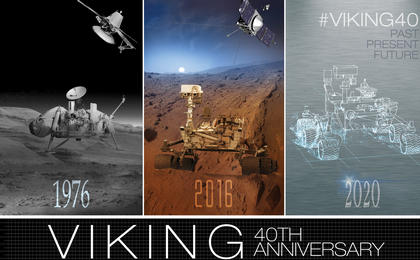 read the article 'Viking 40 Year Anniversary Artwork: Mars Past, Present, Future'