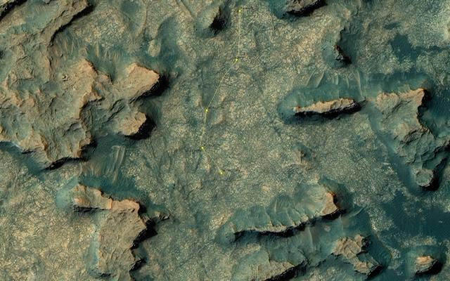 Curiosity Rover's Location for Sol 1439