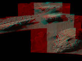 "This July 22, 2016, stereo scene from the Mastcam on NASA's Curiosity Mars Rover shows boulders at a site called ""Bimbe"" on lower Mount Sharp. They contain pebble-size and larger rock fragments. The image appears three dimensional when viewed through red-blue glasses with the red lens on the left."