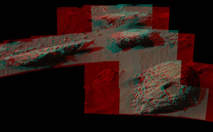 read the article 'Breccia-Conglomerate Rocks on Lower Mount Sharp, Mars (Stereo)'