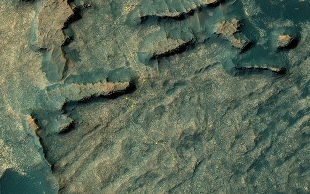 Curiosity Rover's Location for Sol 1469