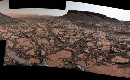 read the article 'Rover's Panorama Taken Amid 'Murray Buttes' on Mars'