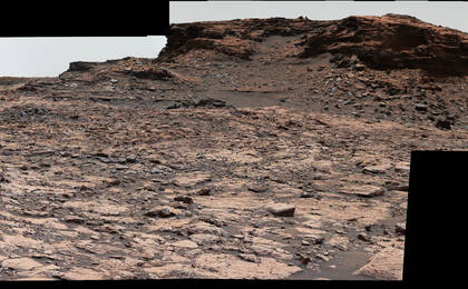 read the article 'Cluster of Martian Mesas on Lower Mount Sharp, Sols 1438 and 1439'