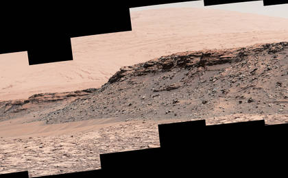 read the article 'Martian Mesas in 'Murray Buttes' Area, Sol 1434'
