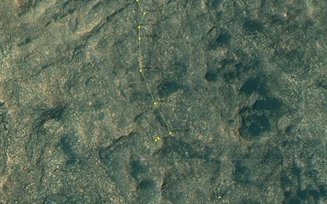 Curiosity Rover's Location for Sol 1489