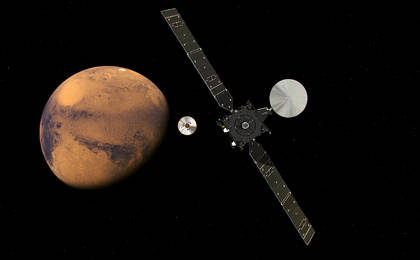 read the article 'ExoMars 2016 Approaching Mars (Artist's Concept)'