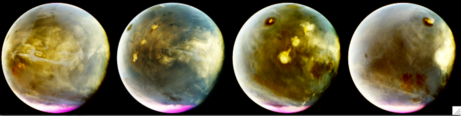 Ultraviolet Mars Reveals Cloud Formation
