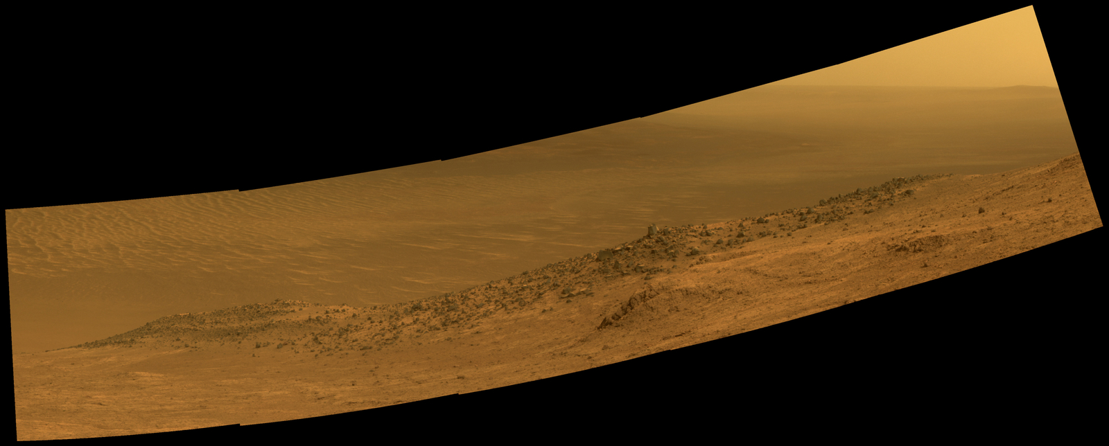 Mars Rover Opportunity's Panorama of 'Wharton Ridge'