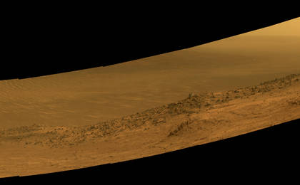 read the article 'Mars Rover Opportunity's Panorama of 'Wharton Ridge''