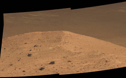 read the article ''Spirit Mound' at Edge of Endeavour Crater, Mars'