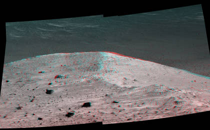 read the article ''Spirit Mound' at Edge of Endeavour Crater, Mars (Stereo)'