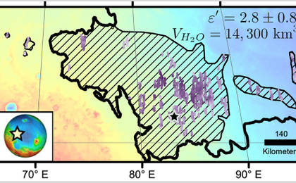 read the article 'Location of Large Subsurface Water-Ice Deposit in Utopia Planitia, Mars'