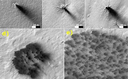 read the article 'Possible Development Stages of Martian 'Spiders''