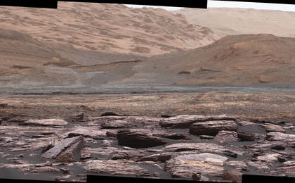 read the article 'Color Variations on Mount Sharp, Mars (White Balanced)'