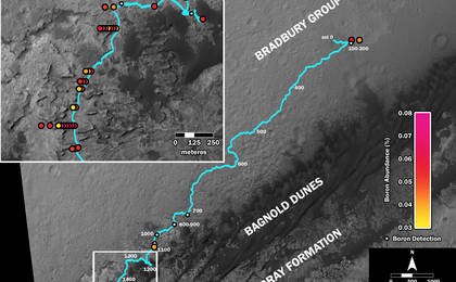 read the article 'Where's Boron? Mars Rover Detects It'