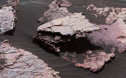 read the article 'Possible Signs of Ancient Drying in Martian Rock'
