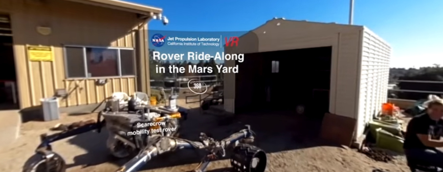 view Rover Ride-Along in the Mars Yard (360 Video)'
