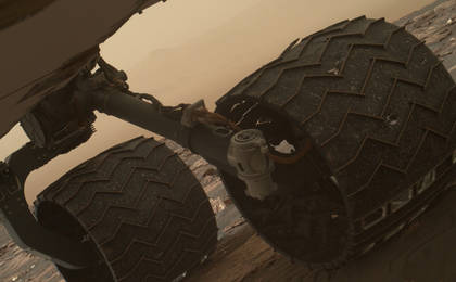 read the article 'Breaks Observed in Rover Wheel Treads'