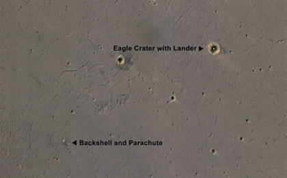 read the article 'Rover's Landing Hardware at Eagle Crater, Mars (Figure A)'