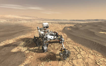 read the article 'NASA's Mars 2020 Rover Artist's Concept #1'