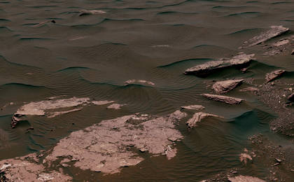 read the article 'Textures Where Curiosity Rover Studied a Martian Dune'