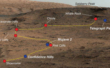 read the article 'Key Locations Studied at 'Pahrump Hills' on Mars'