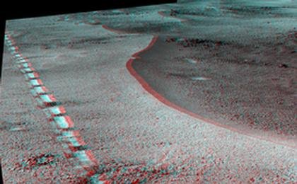 read the article 'Mars Rover Opportunity's View of 'Orion Crater' (Stereo)'