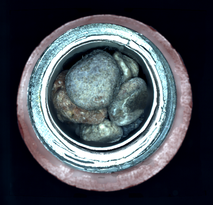 This is the top-down view into a sample tube is the type of image CacheCam provides to the Mars 2020 team.