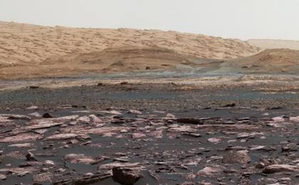 read the article 'View Toward 'Vera Rubin Ridge' on Mount Sharp, Mars'
