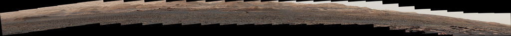 "This panorama from the Mast Camera (Mastcam) of NASA's Curiosity Mars rover shows details of ""Vera Rubin Ridge,"" which stretches about 4 miles (6.5 kilometers), end-to-end, on the northwestern flank of lower Mount Sharp."