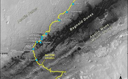 read the article 'Mid-2017 Map of NASA's Curiosity Mars Rover Mission'