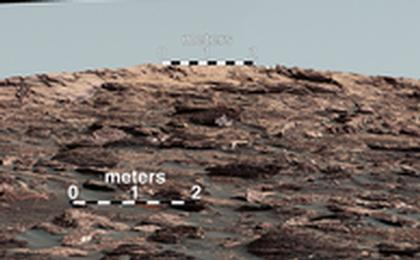 read the article 'Looking Up at Layers of 'Vera Rubin Ridge' on Sol 1790 - Figure 1'
