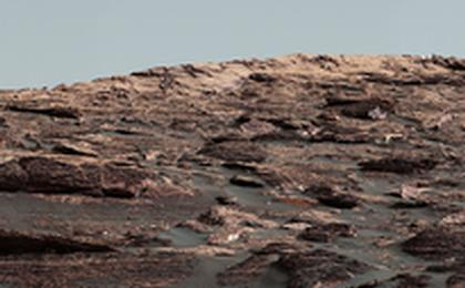 read the article 'Looking Up at Layers of 'Vera Rubin Ridge' on Sol 1790'
