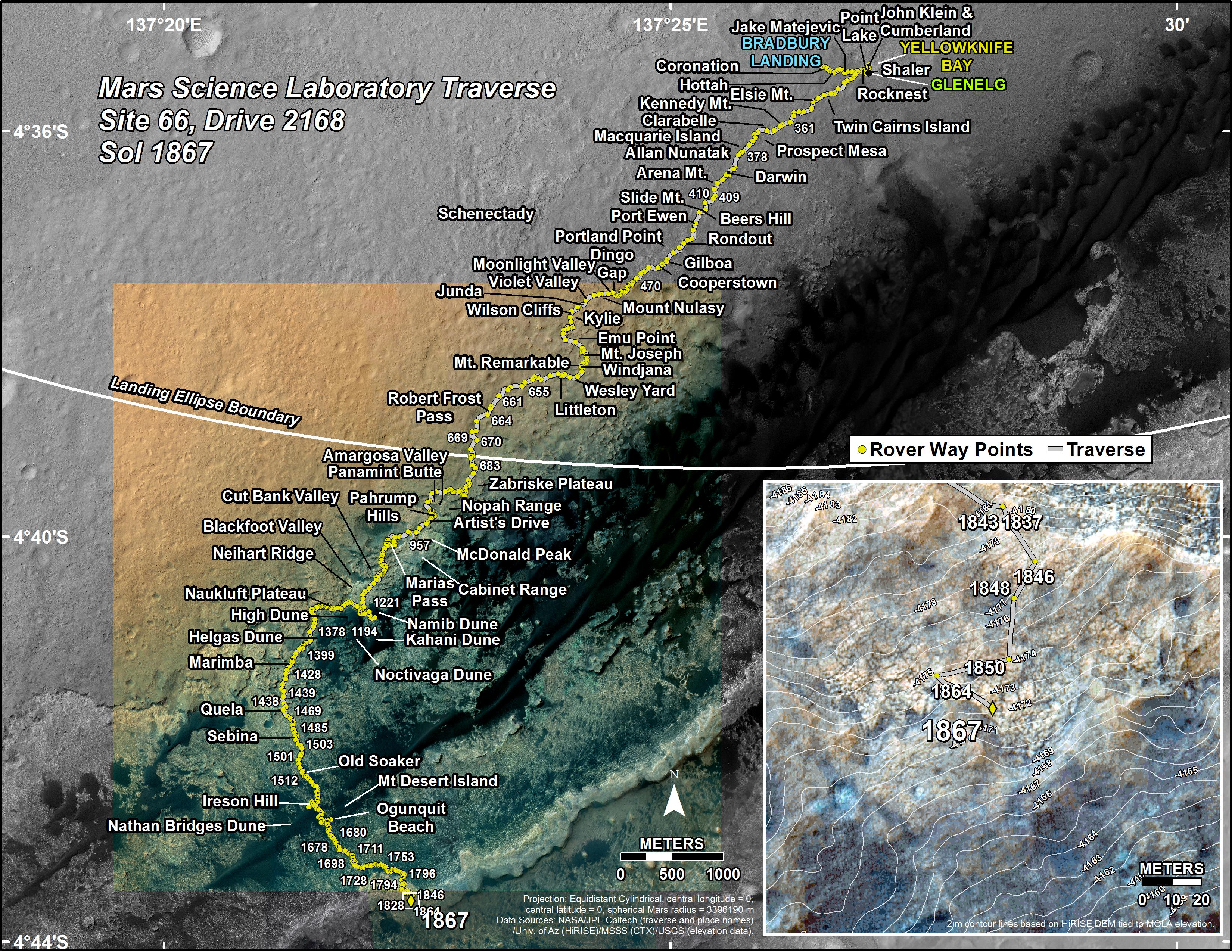 mars rover landing map - photo #10