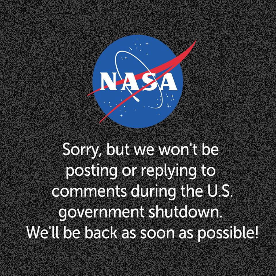 Sorry, but we won't be posting or replying to comments during the U.S. government shutdown. We'll be back as soon as possible!